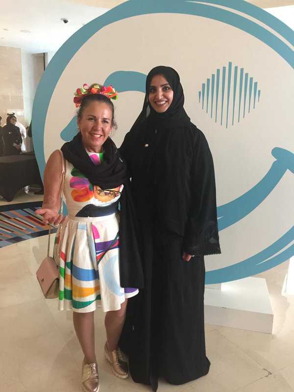 Aisha Bin Bisr happinizing Smart Dubai